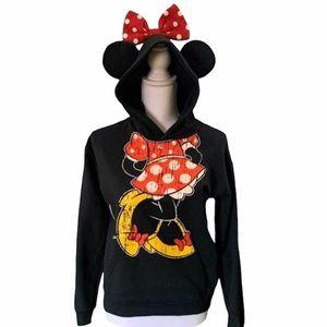 Disney Minnie Hoodie Sweatshirt Sz Youth XL